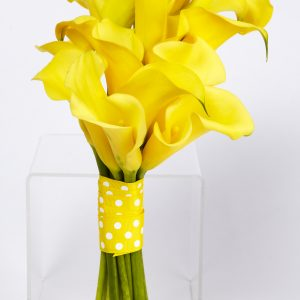 Yellow Calla Bridesmaids Bouquet